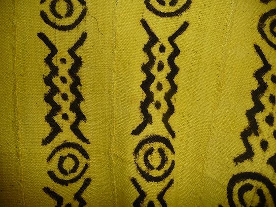 Yellow & Brown Mud Print Fabric