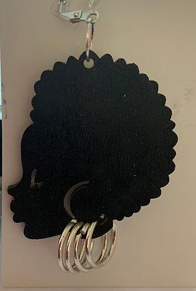 Black Woman Earrings