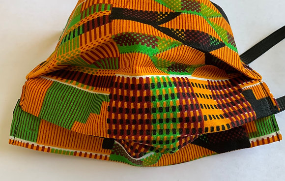 Kente Fabric Print Mask