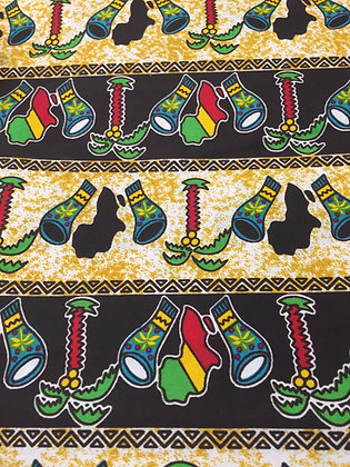 African Fabric (Black)