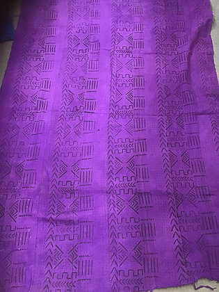 Hand Woven Mud Cloth (66) purple