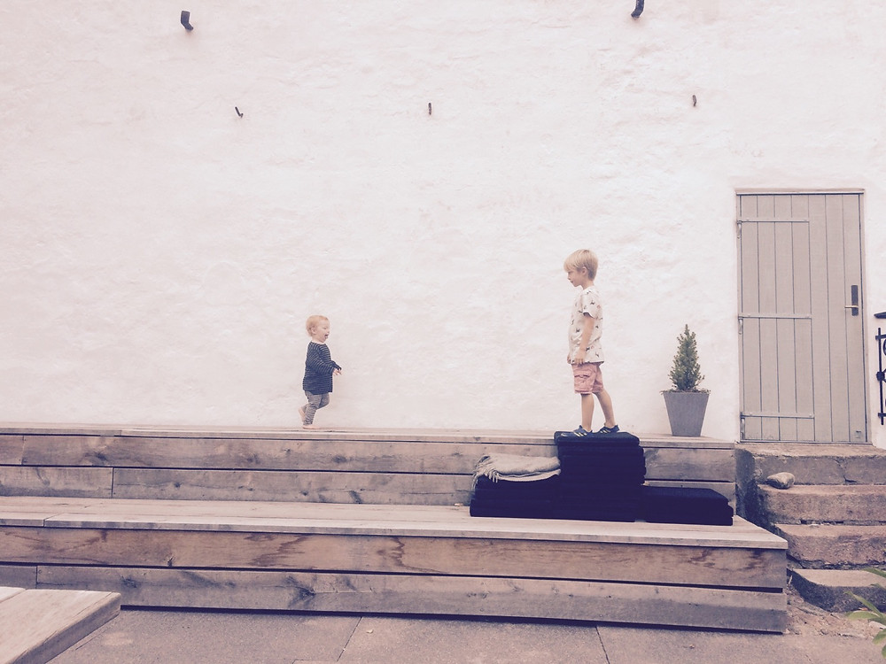 kids on bench