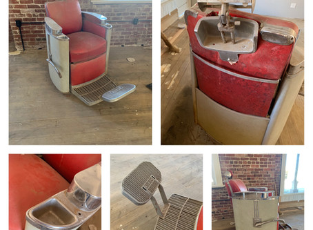 Red Barber Chairs