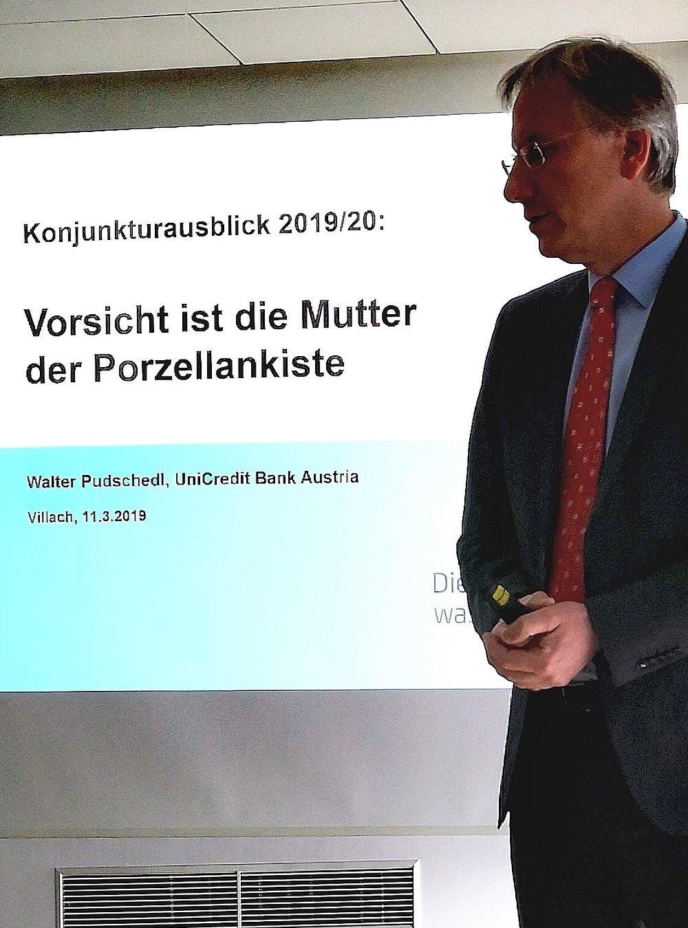 Walter Pudschedl, Bank Austria