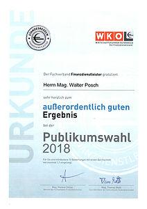 WKO Auszeichnung 2018