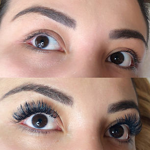 Eyelash Extension before and after's see all of your options and see which is the best fo you!