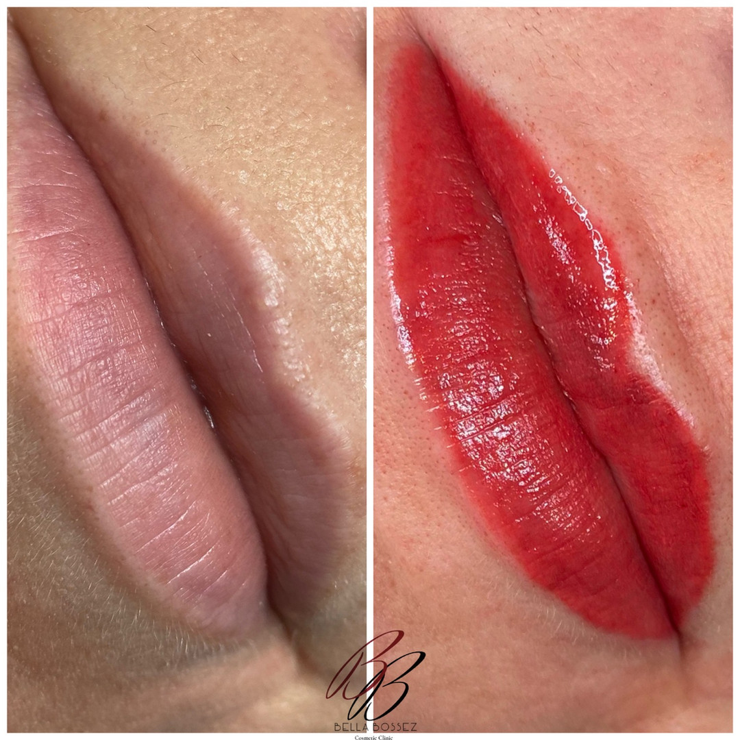 Denver Lip Blushing before and after