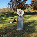 DUNDERRY PARK SIGN WITH DOGS IN BACK.JPG