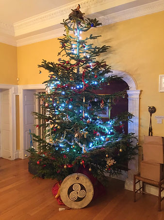 Christmas tree with Shamanic Drum