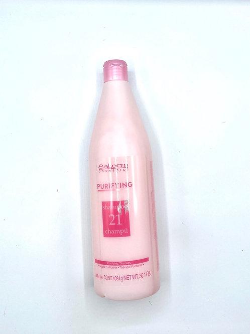Purifying shampoo 21 by salerm cosmetics.36.1oz