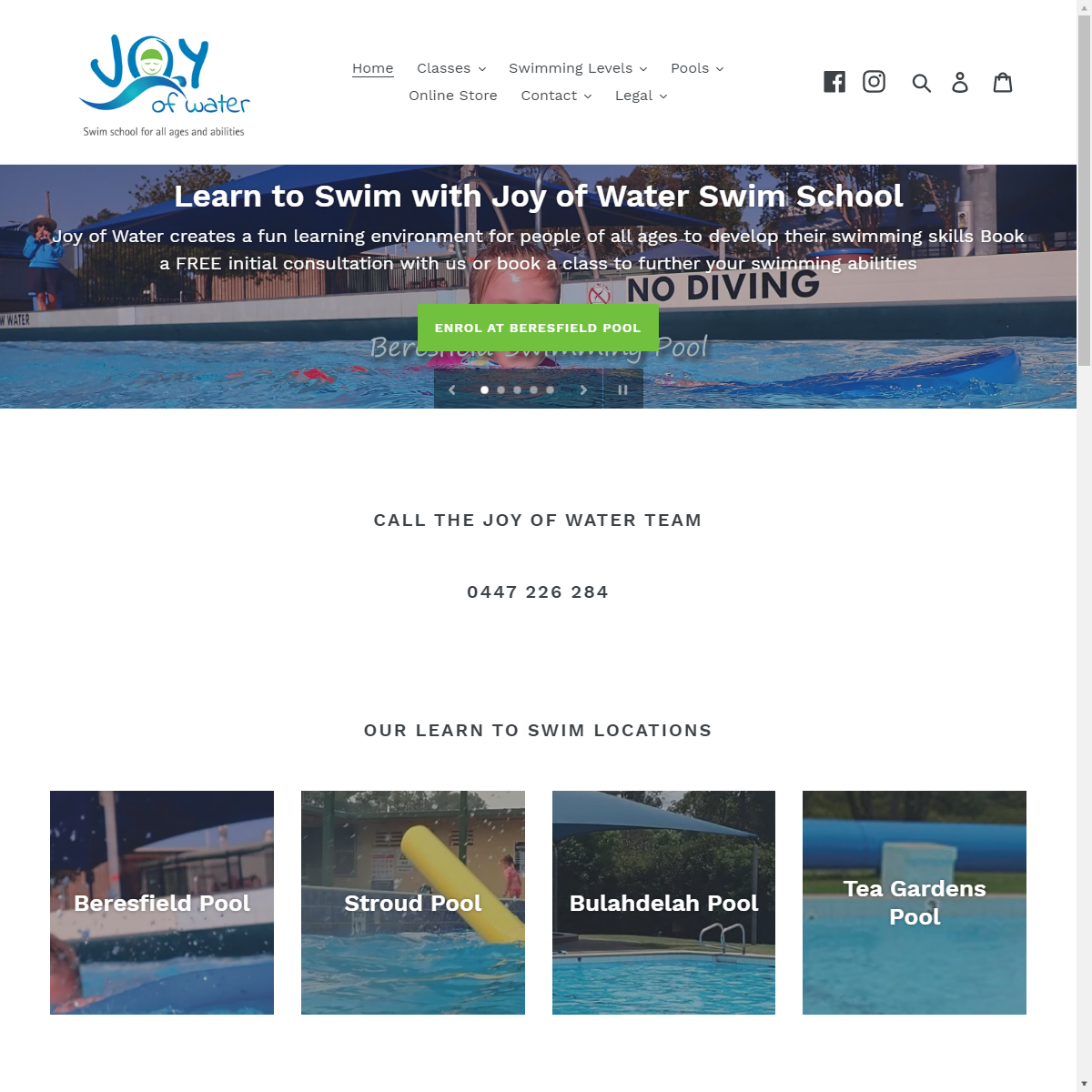 Joy of Water Website Design