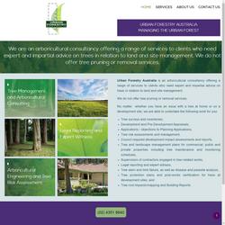 Urban Forestry Website Design and hosting
