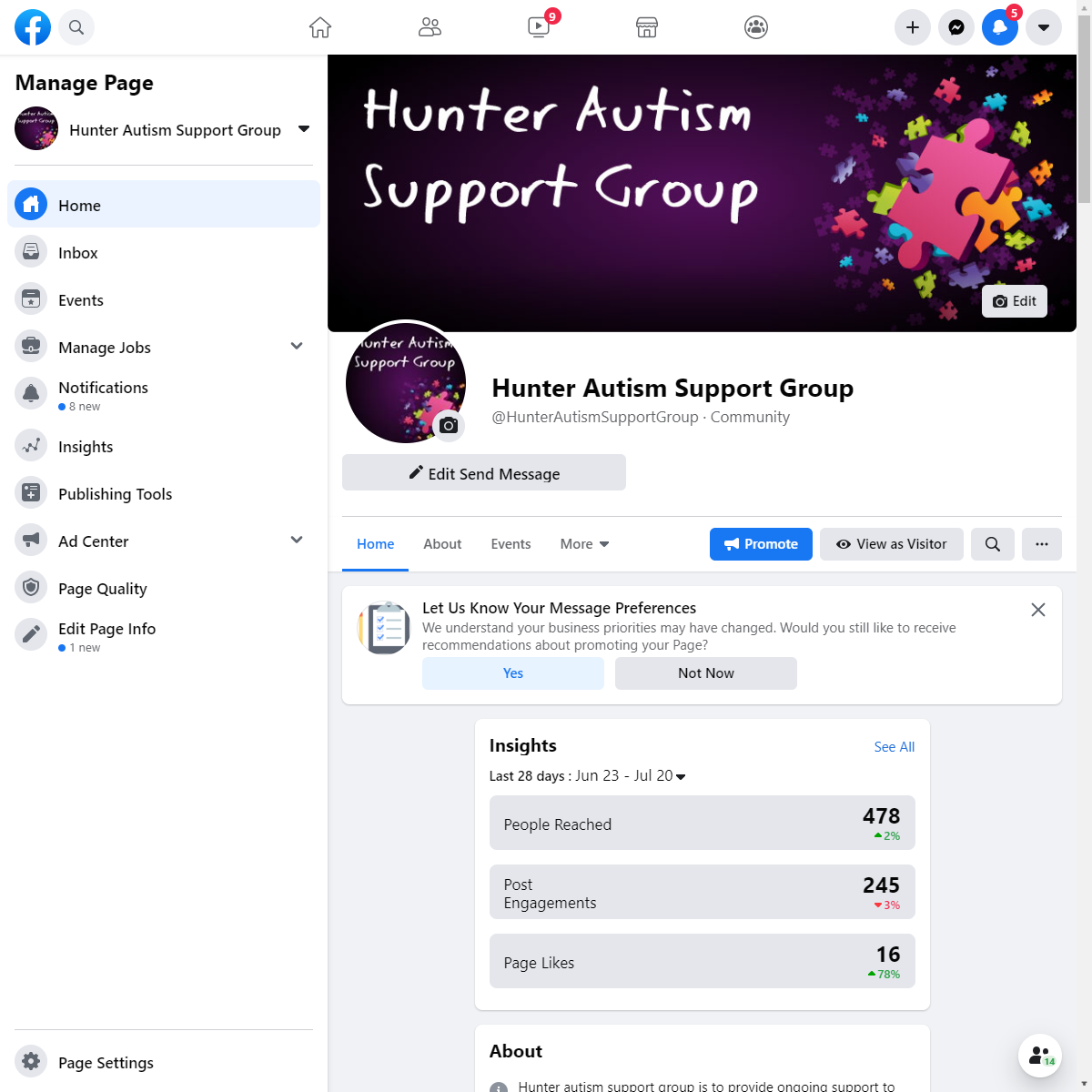 Hunter Autism Support Group Social Media Hub
