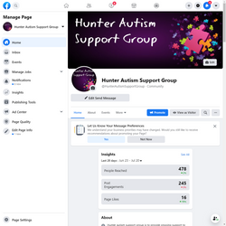 Hunter Autism Support Group Social Media Hub