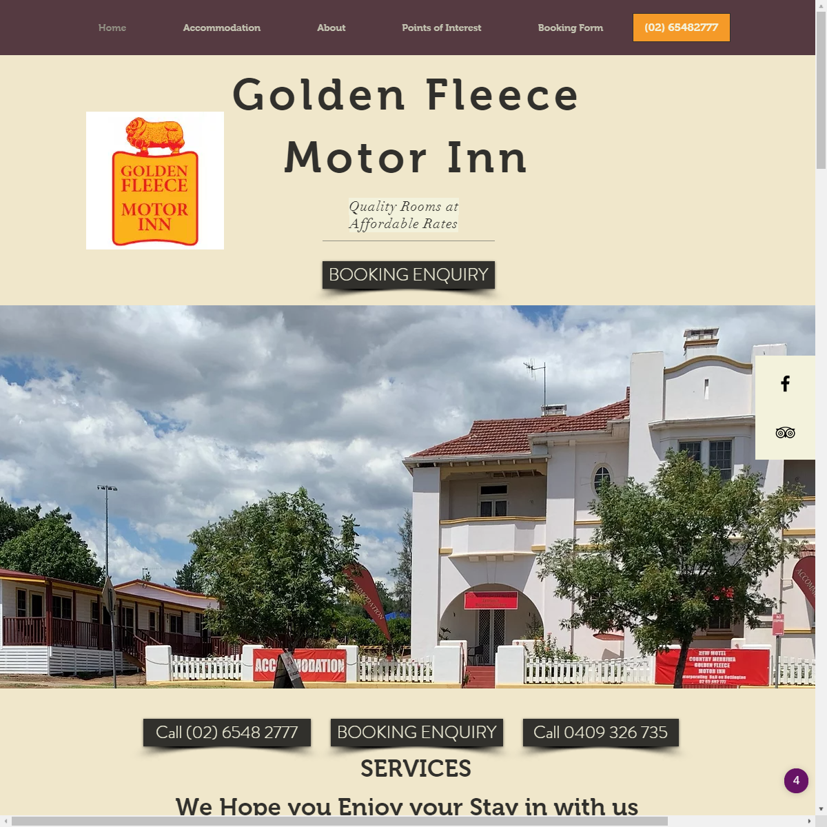 Golden Fleece Motor Inn Merriwa Website Design