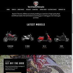 Town and Country Motorcycles Web Design and E-Commerce