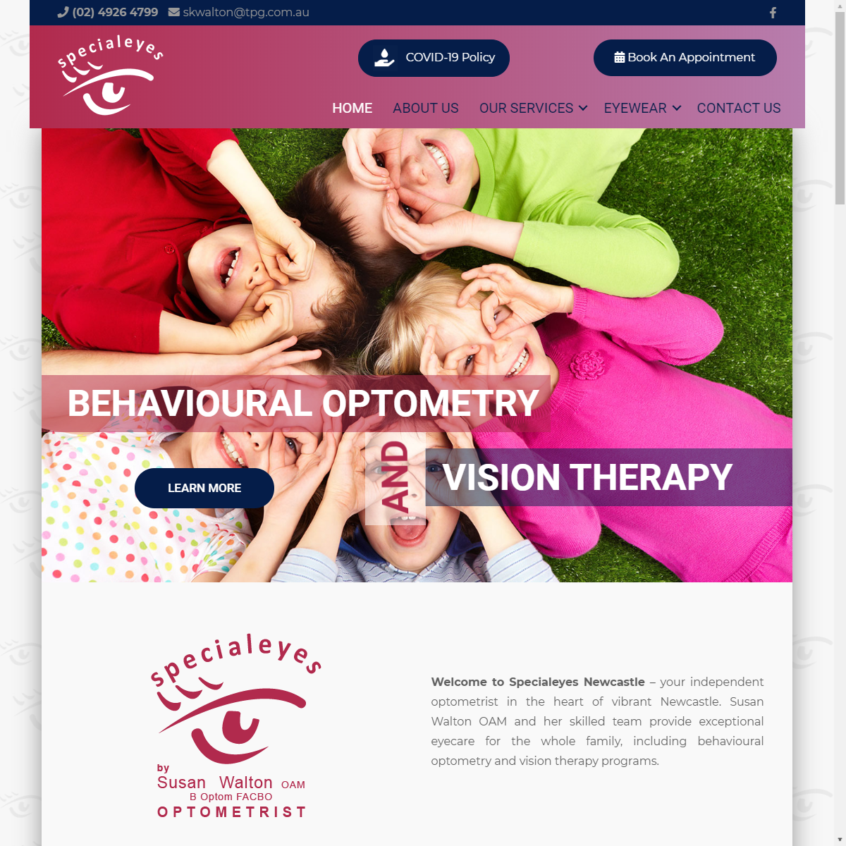 Susan Walton Optometrist Web and Graphic Design