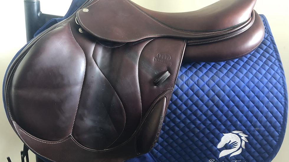 "17.5"" Devoucoux Chiberta O saddle - 2019 - 2A - 4.75"" dot to dot"