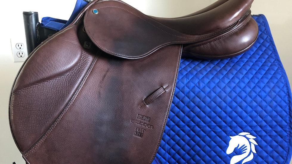 "17"" Stubben Edelweiss de luxe equisoft saddle - nt 31cm medium wide tree"