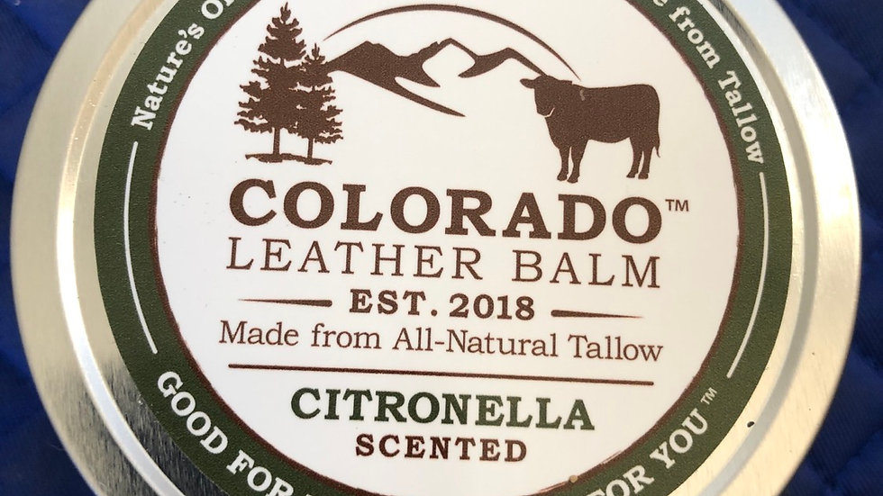 Colorado leather balm 8oz Citronella