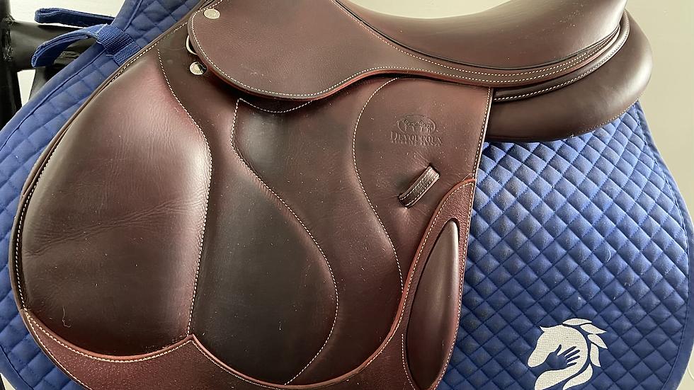 "17"" Devoucoux Chiberta O saddle - 2017 - 1AR - 5"" dot to dot"