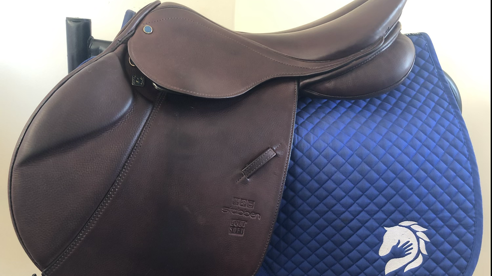 "17"" Stubben Edelweiss de luxe Equisoft saddle - wide 32cm"