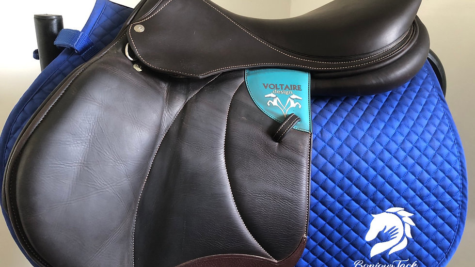 """18"""" Voltaire Palm Beach saddle - 2016 - 2AA - pro 5"""" dot to dot"""