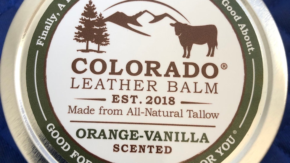 Colorado leather balm 4oz Orange Vanilla