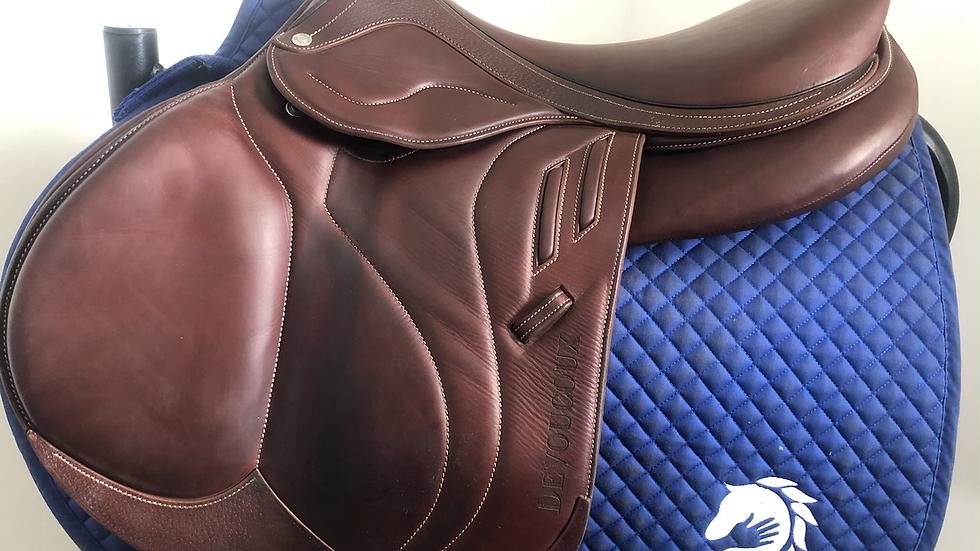 "17.5"" Devoucoux Biarritz Lab saddle - 2019 - 2AA - 4.5"" dot to dot"