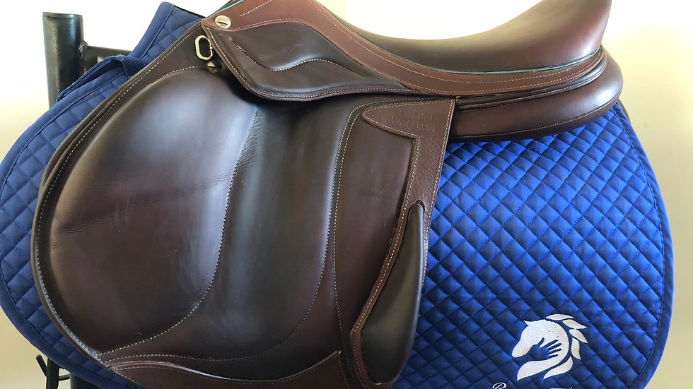 "17.5"" Devoucoux Chiberta lab D3D saddle - 2017 - 2A - 4.75"" dot to dot"