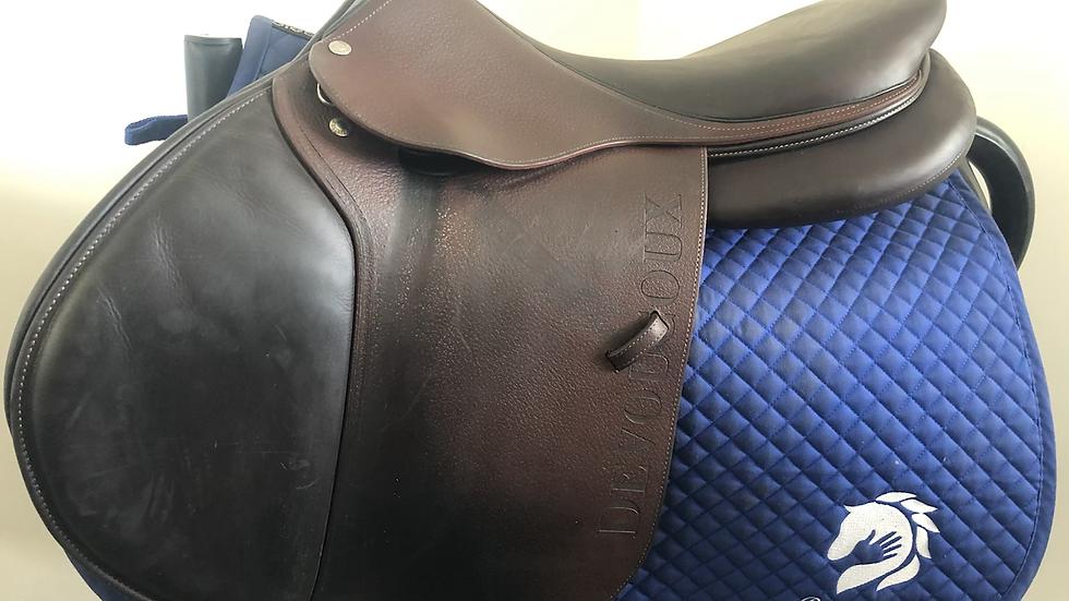 "18"" Devoucoux Biarritz S saddle - 2017 - 3AAA - 4.75"" dot to dot"