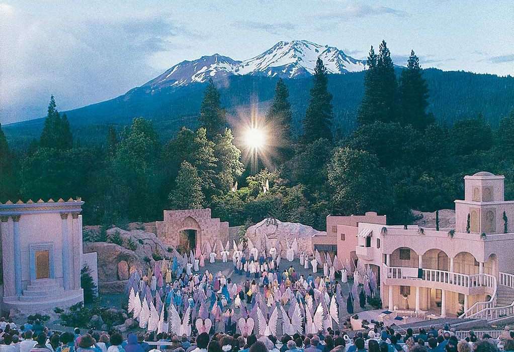 "Ascension scene, ""I AM"" Come Pageant - performed every August, Mt. Shasta City California"