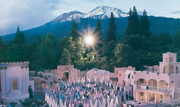 """Ascension scene, """"I AM"""" Come Pageant - performed every August, Mt. Shasta City California"""
