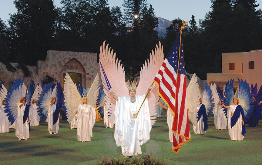 Scene from Pageant of the Angels, performed live every August - Mt. Shasta City, California