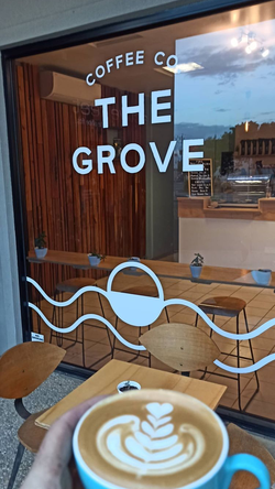 The Grove - White Window Decals