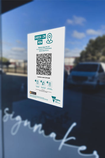 QR Check-In Decal
