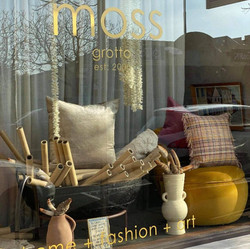 Moss Grotto - Metallic Gold Window Decals
