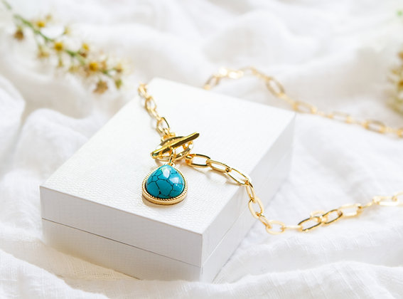 The Turquoise Tear Necklace