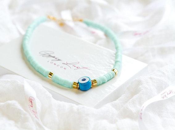 Baby Blue Azure Eye Necklace
