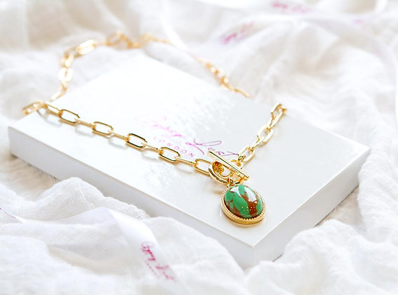Viridian Tear Necklace