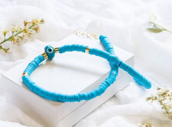 Blue Azure Eye Necklace