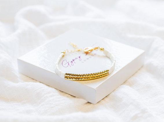 White Block Bracelet