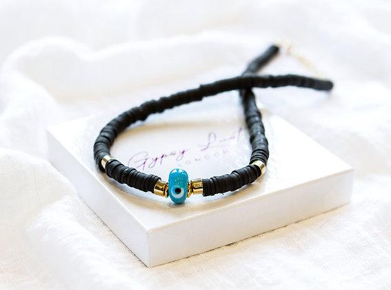 Black Azure Eye Necklace