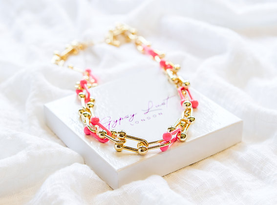 Pink De France Necklace