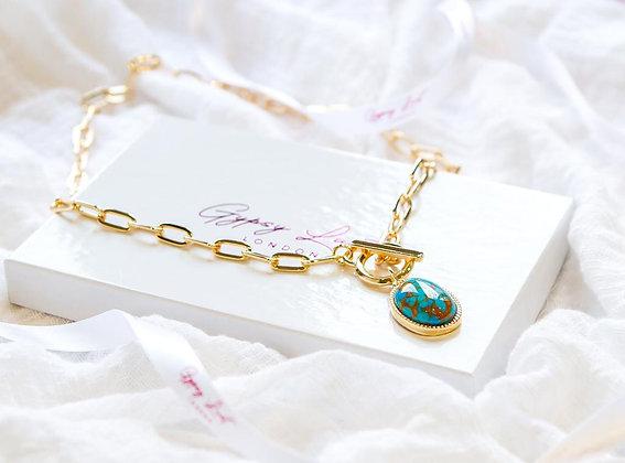 Blue Tear Necklace