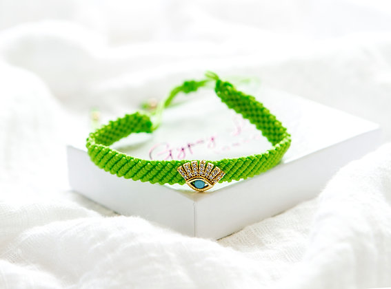 Green Eye Bracelet