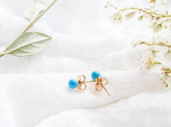 Azure Stud Earrings