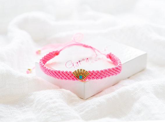 Pink Eye Bracelet