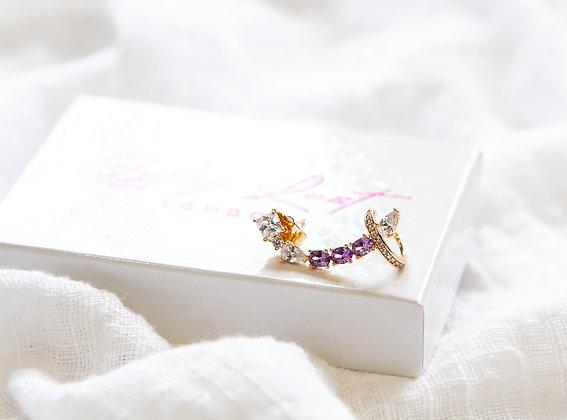 Ariel Purple Earring/Cuff