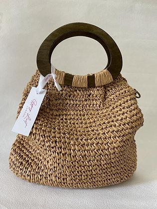 Natural Brown Straw Bag
